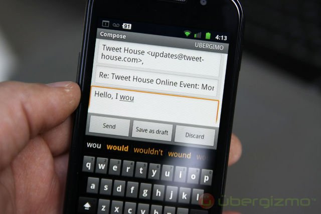 nexus s review, email, exchange, gmail