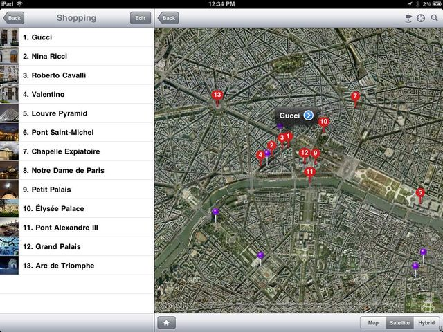 Fotopedia Paris Map