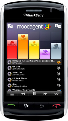 Moodagent for BlackBerry