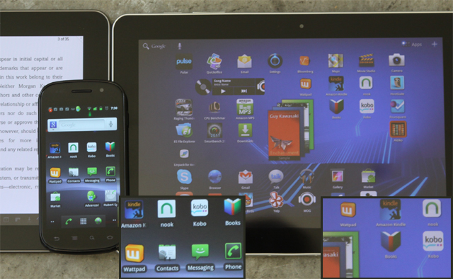 e-Books apps on Android devices