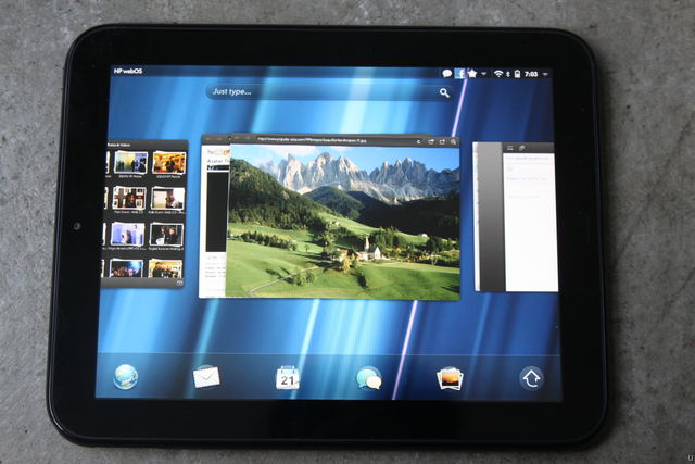 HP TouchPad Home Screen