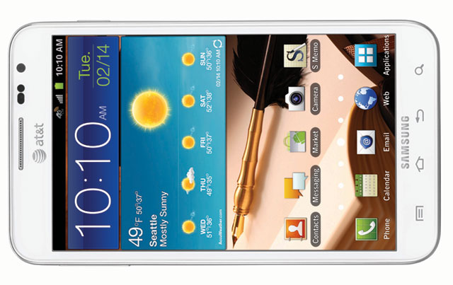 at&t Galaxy note front