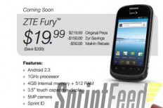 ZTE Fury budget Android handset for Sprint gets pictured and detailed