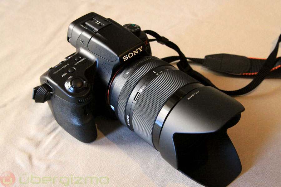 sony slt a37 dslr hands on ubergizmo. Black Bedroom Furniture Sets. Home Design Ideas