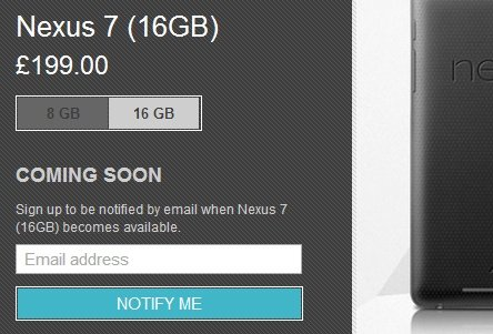 Google Nexus 7 tablets out of stock in the UK ...