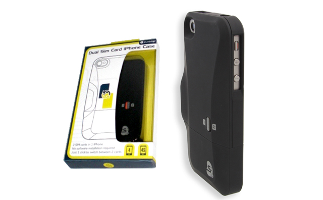 sim card for iphone 4 iphone 4s dual sim card by thumbsup ubergizmo 18010