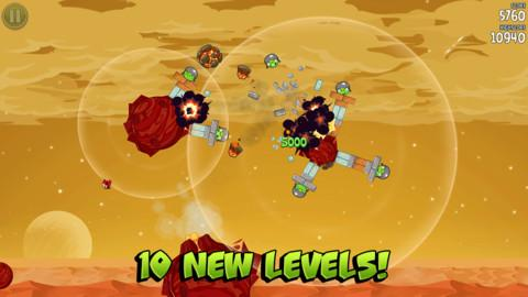 Angry Birds Space updated with 10 new levels