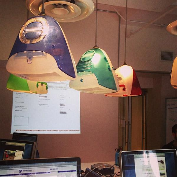 Old IMac G3s Find New Life As Ceiling Lamps