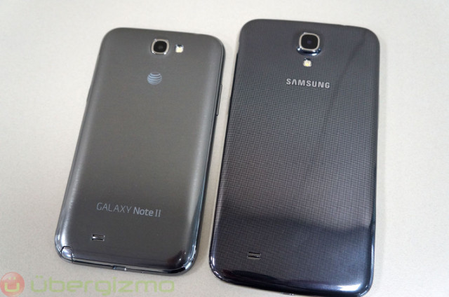 Next to a Galaxy Note 2 (left)