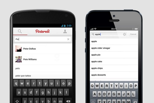 pinterest updates ios and android apps with new features ubergizmo. Black Bedroom Furniture Sets. Home Design Ideas