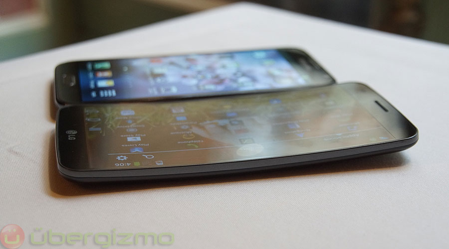 the G Flex with the Note 2 in the background