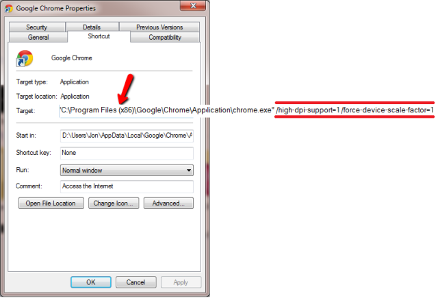 Chrome High DPI: How To Enable It In Windows 8, 8 1 (v34+)