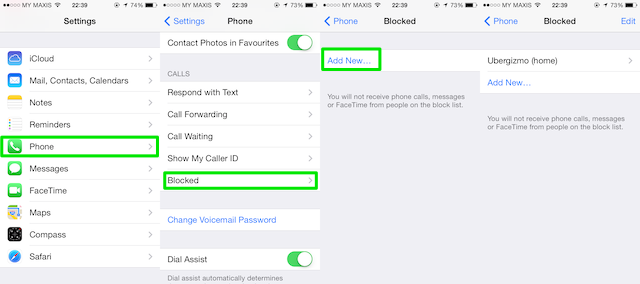 How to block calls on an iphone