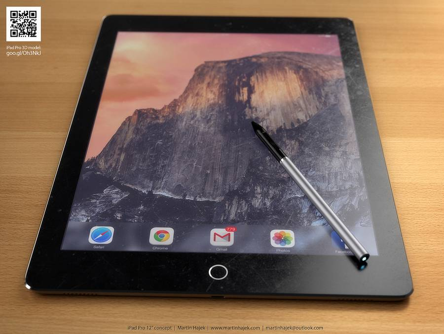 iPad Pro Concept With Stylus Shows What The Tablet Could Look Like