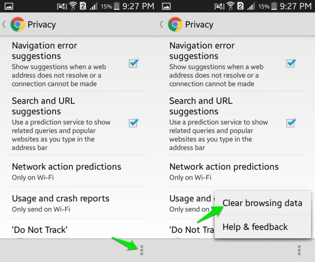 how to delete cache data android