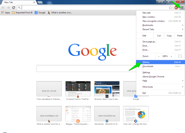 how to see history after deleted chrome