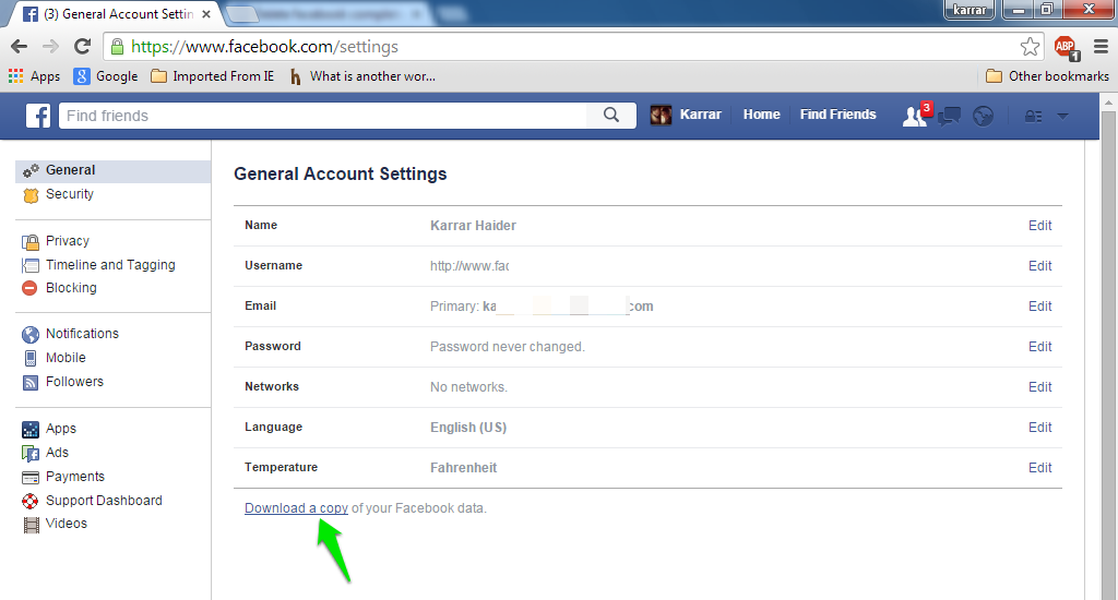 How to delete your facebook account completely ubergizmo backup facebook data ccuart Images