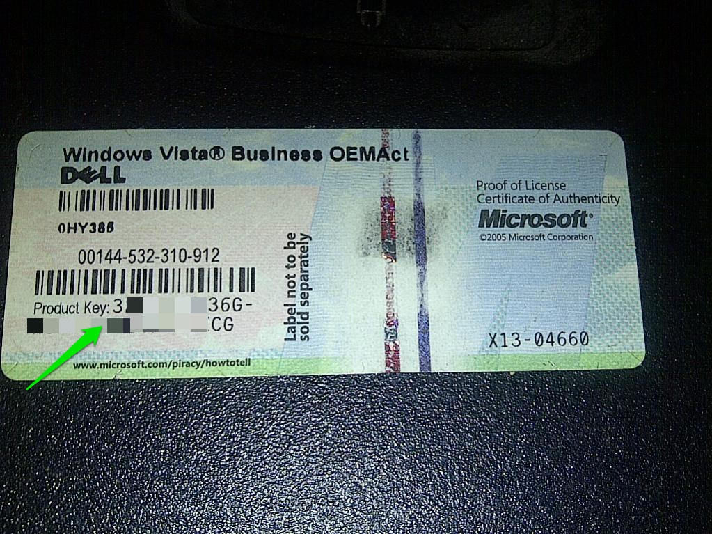 windows vista business serial key