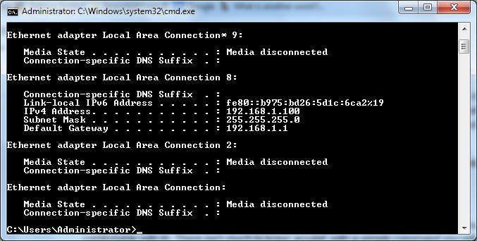 How to find my router ip address using cmd