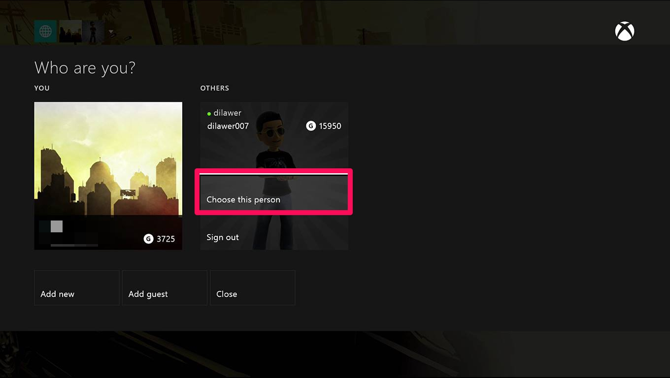 How To Make An Account A Home Xbox