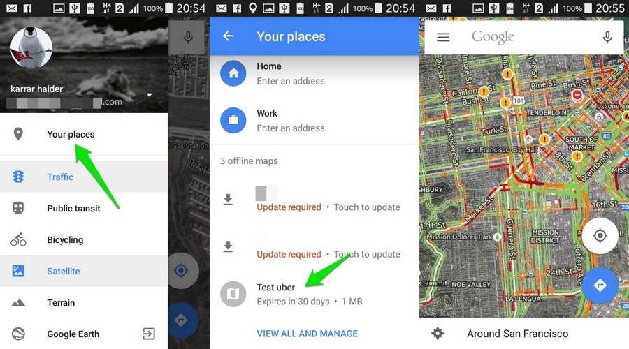 How To Download Offline Maps How To Use Google Maps Offline (Android) | Ubergizmo