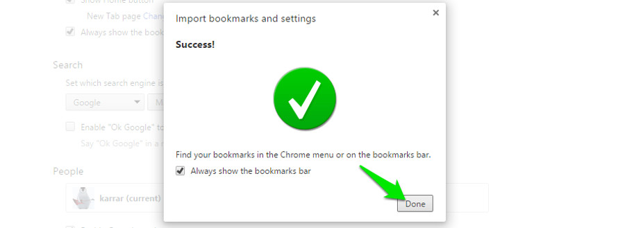 how to import bookmarks to edge