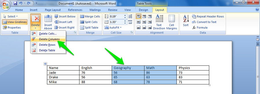 How to add a line to a table in word