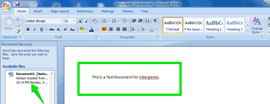 if it found any you will see them on the left side of the blank document just click to open in word and save using the standard save method