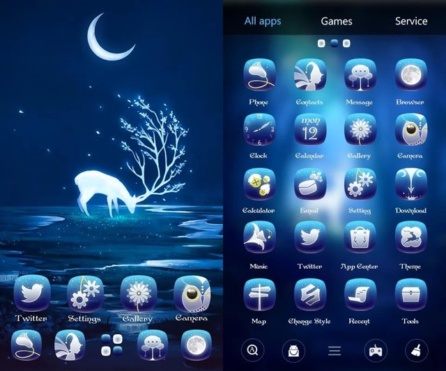 Forest GO Launcher Theme