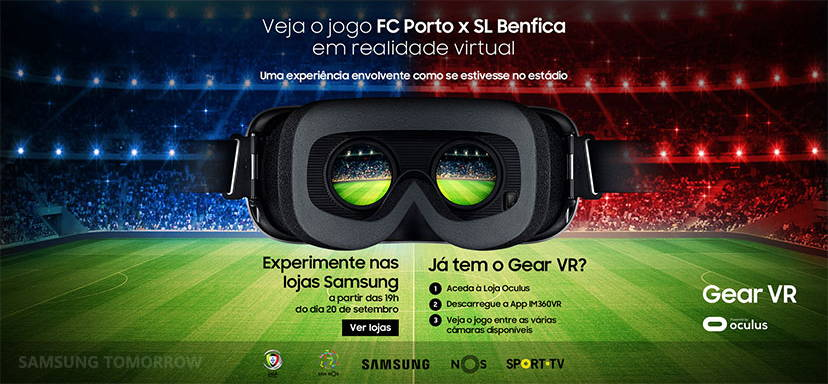 Samsung Gear VR Used To Watch Football In Portugal
