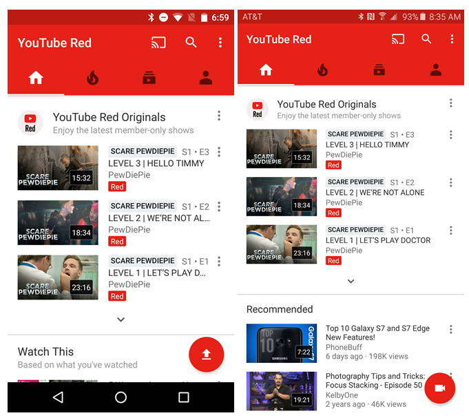 YouTube App Spotted With New Record & Upload Screen