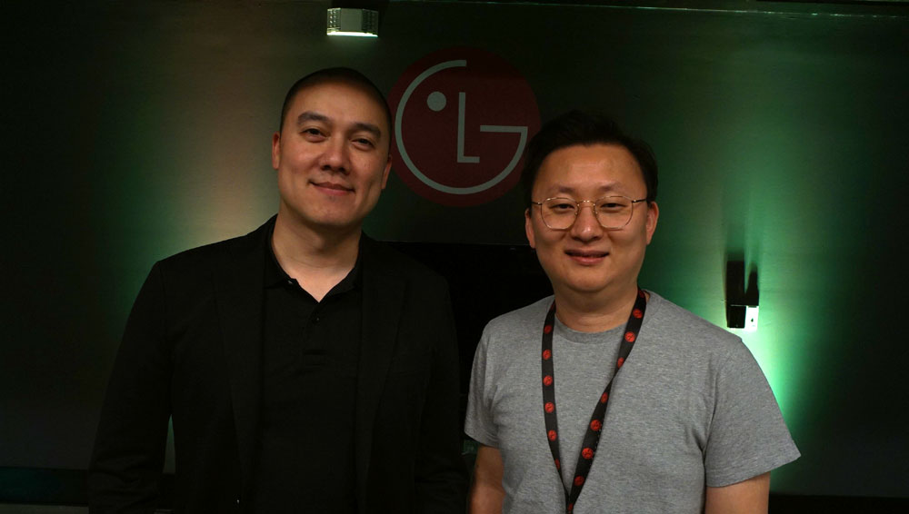 Dr. Woo (right) and Hubert Nguyen (left)