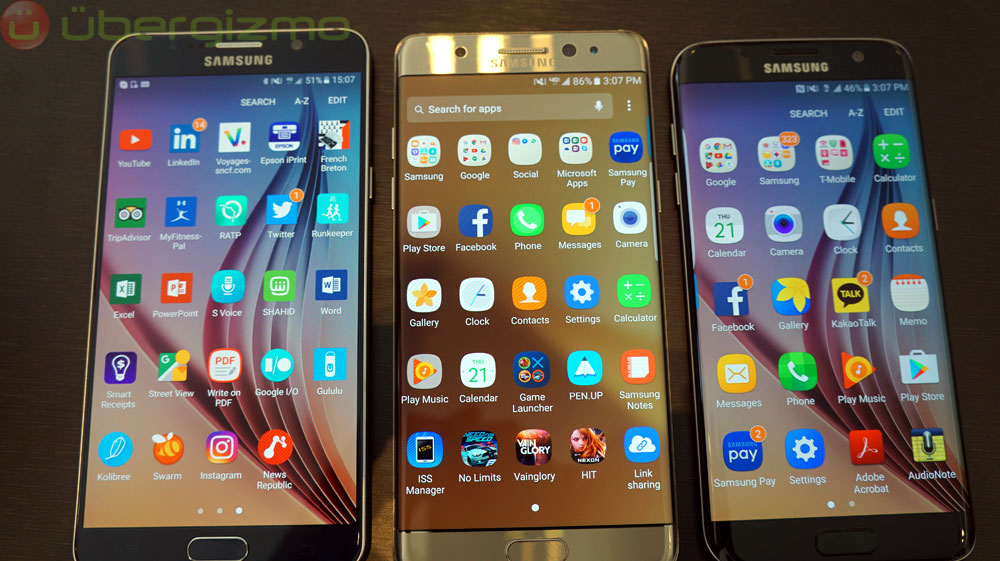 The Samsung Touchwiz interface powers most of Samsung's Android phones