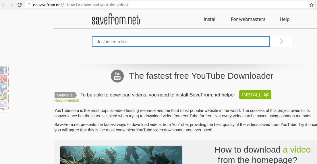 How to download youtube videos on android ubergizmo savefrom yet another web based solution to download youtube videos ccuart Gallery