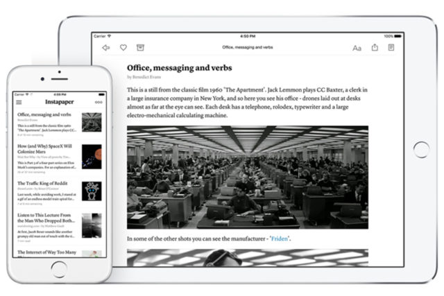 - instapaper 640x427 - Instapaper Moves On From Pinterest And Becomes Independent Again