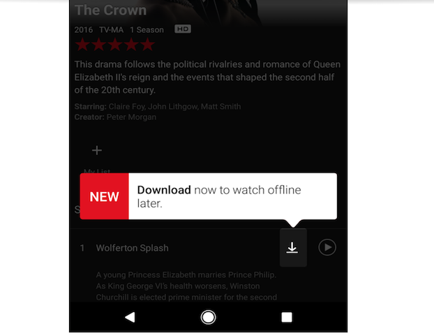 how to download shows on netflix for offline viewing