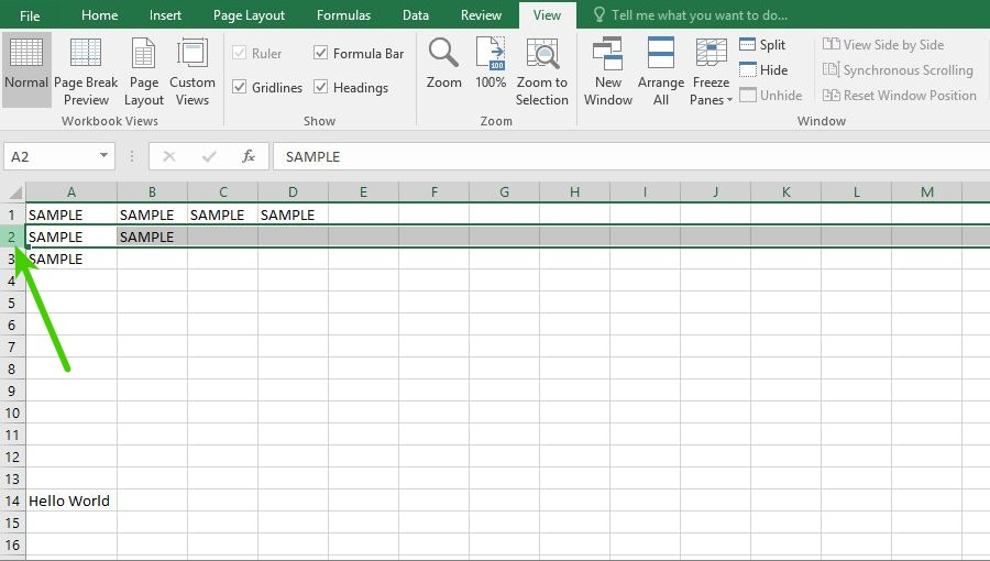 how to freeze a row in excel 2016