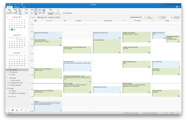 Google Calendar And Contacts Support Coming To Outlook For Mac