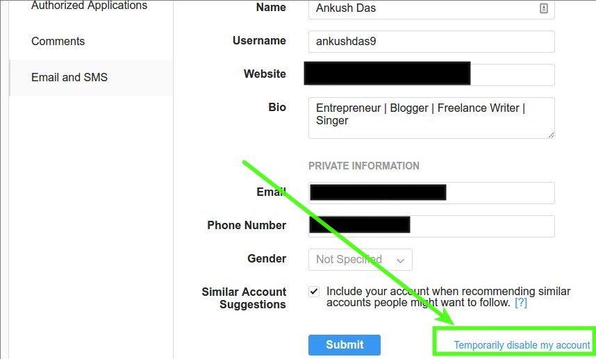 How to delete your instagram account ubergizmo steps to temporarily disable instagram account ccuart Choice Image