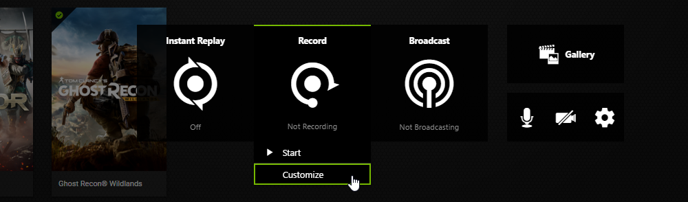 recording with nvidia shield