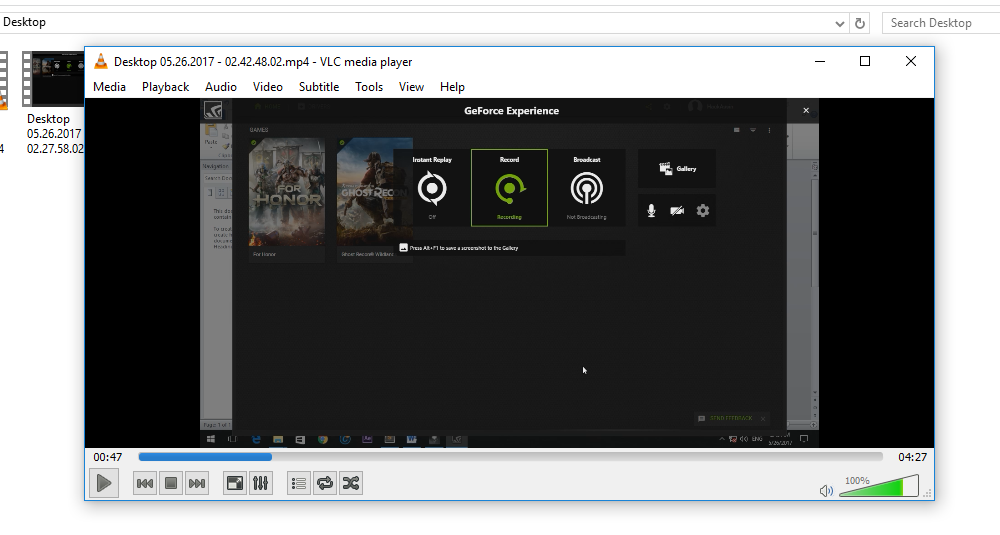 nvidia shadowplay how to record desktop
