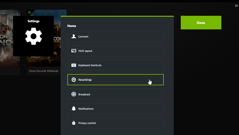 nvidia screenshot shortcut