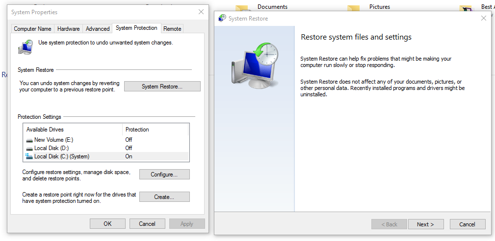 how to system restore