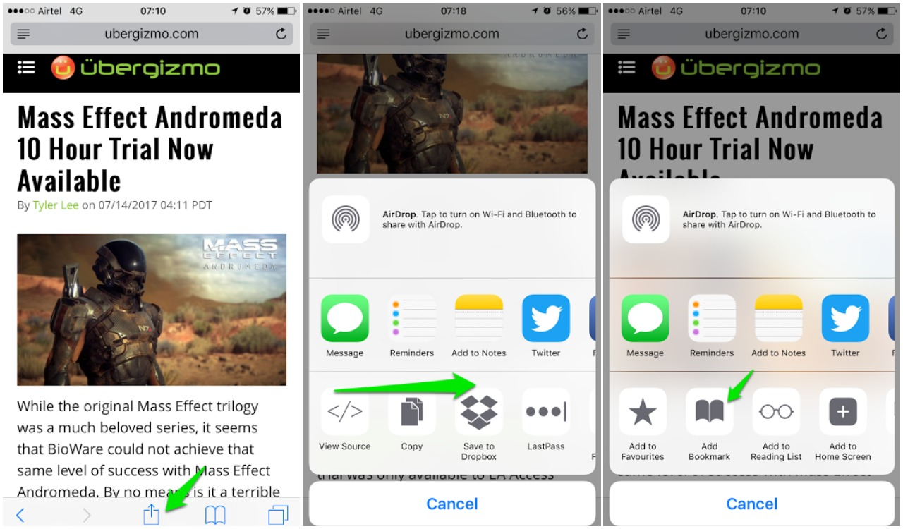 how to bookmark on iPhone