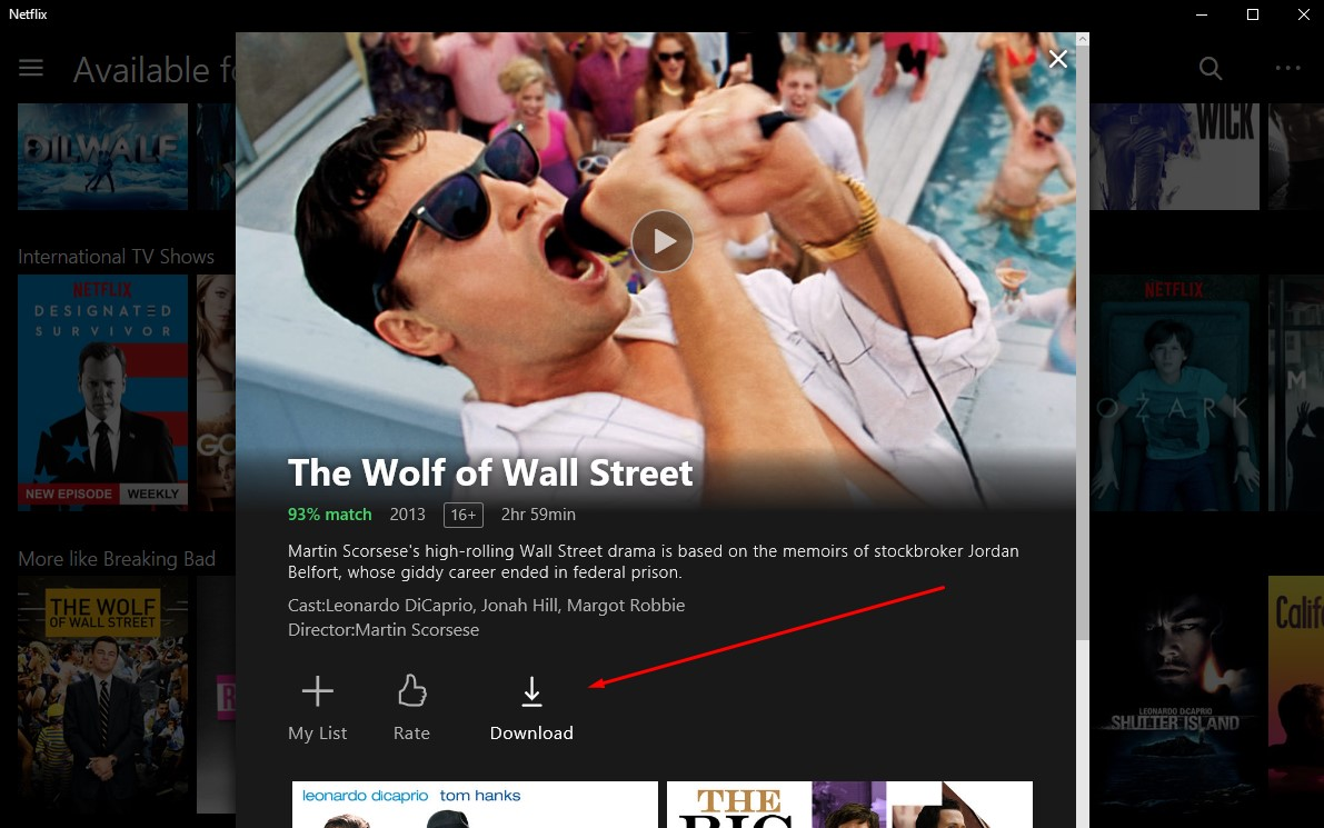 how to use netflix download
