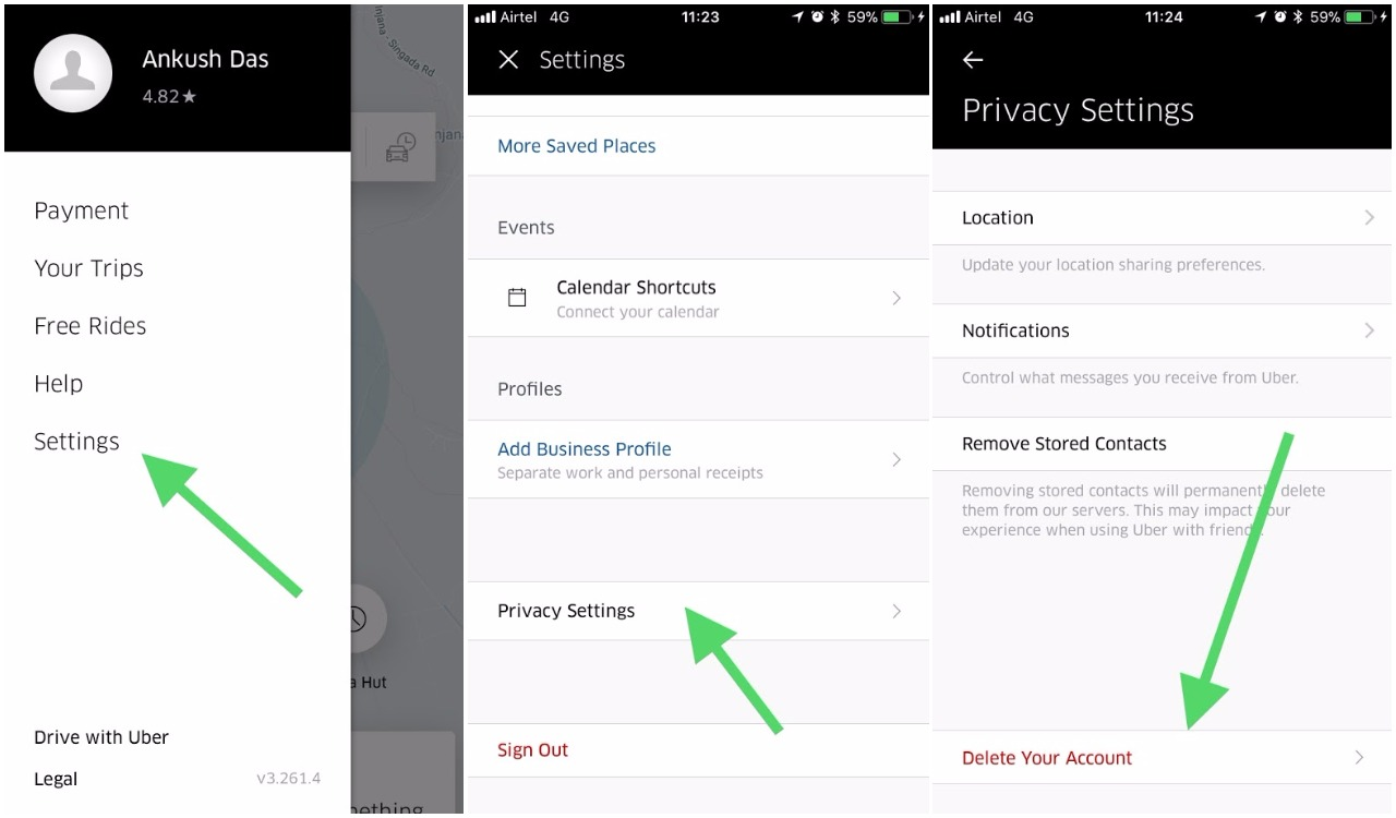 how to use uber app.on phone
