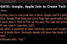 Dow Jones Reports Google Bought Apple Due To