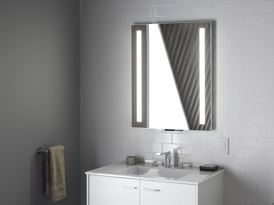 kohler konnect and verdera voice lighted mirror for the 13382