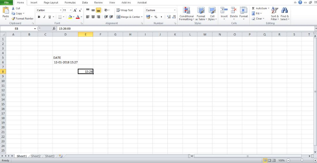 How To Enter Time And Date In Excel | Ubergizmo