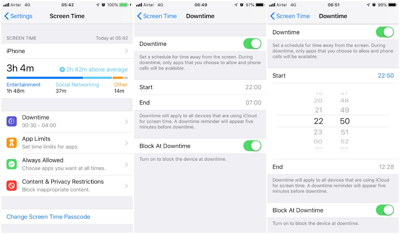 Setting Limits On Screen Time What Does >> How To Use Screen Time On Ios 12 Ubergizmo
